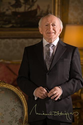 President Higgins official photograph with signature.jpg