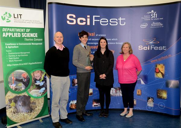 SciFest@College 2017 SFI Best Project Award winners